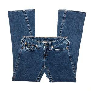 True Religion Joey Flare Wide Leg Jeans